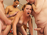 Kara Gets Gangbanged Hard by the Tampa Bukkake Boys!