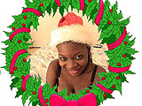 Ebony Girl Just Wants Cock for Christmas