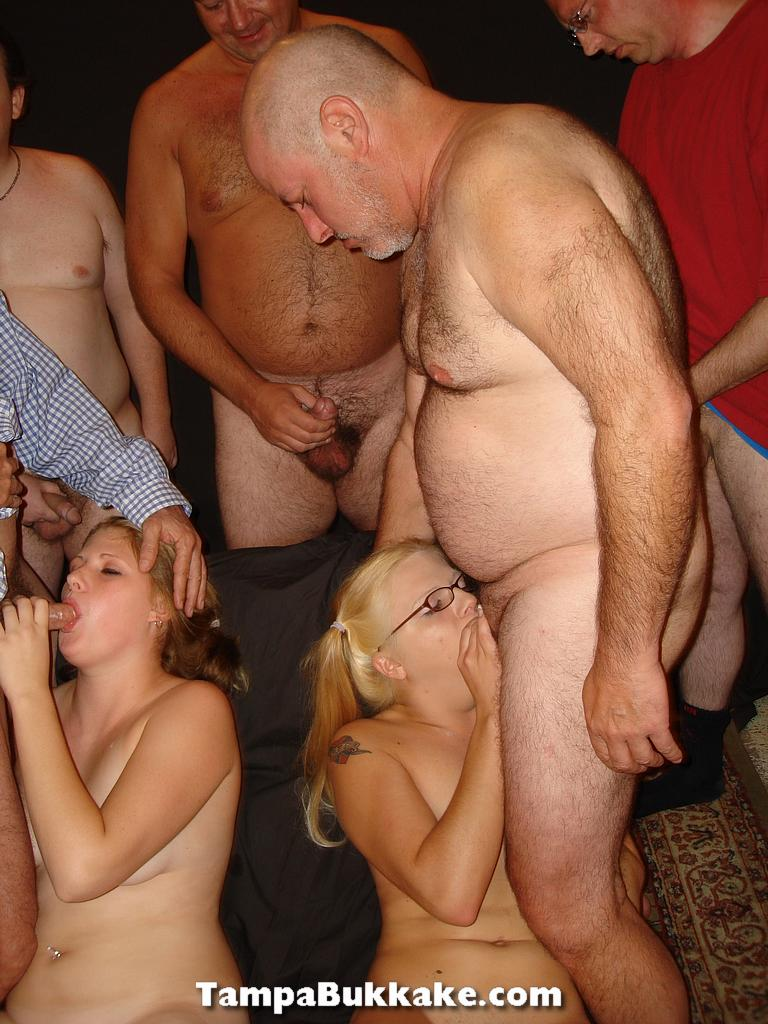 swinger bukakke orgy cum