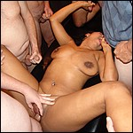 Hot latin girl getting banged by group of horny guys